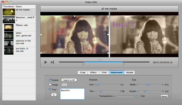 aimersoft mac dvd creaot edit