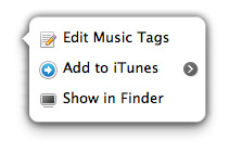 Edit music tags