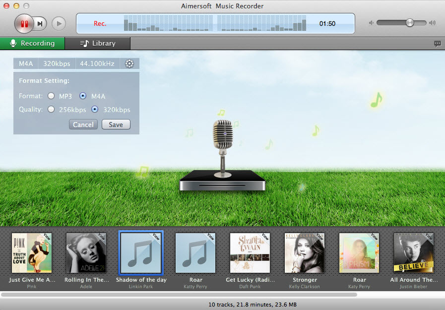 record streaming music on mac