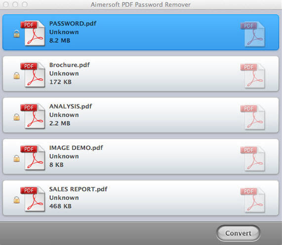 PDF Password Remover for Mac - Load PDF Files