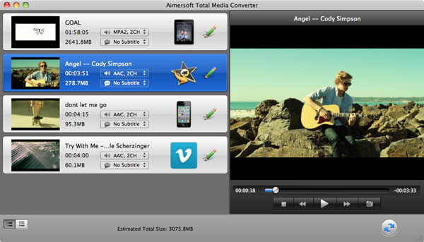 aimersoft mac total media converter add