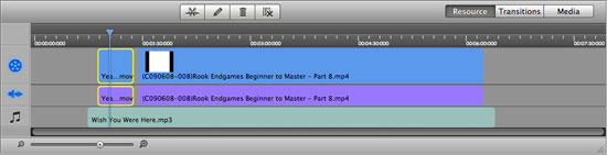 aimersoft mac video studio express timeline