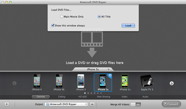 convert dvd to avi mac