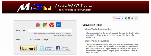 convert youtube video to mp3 online